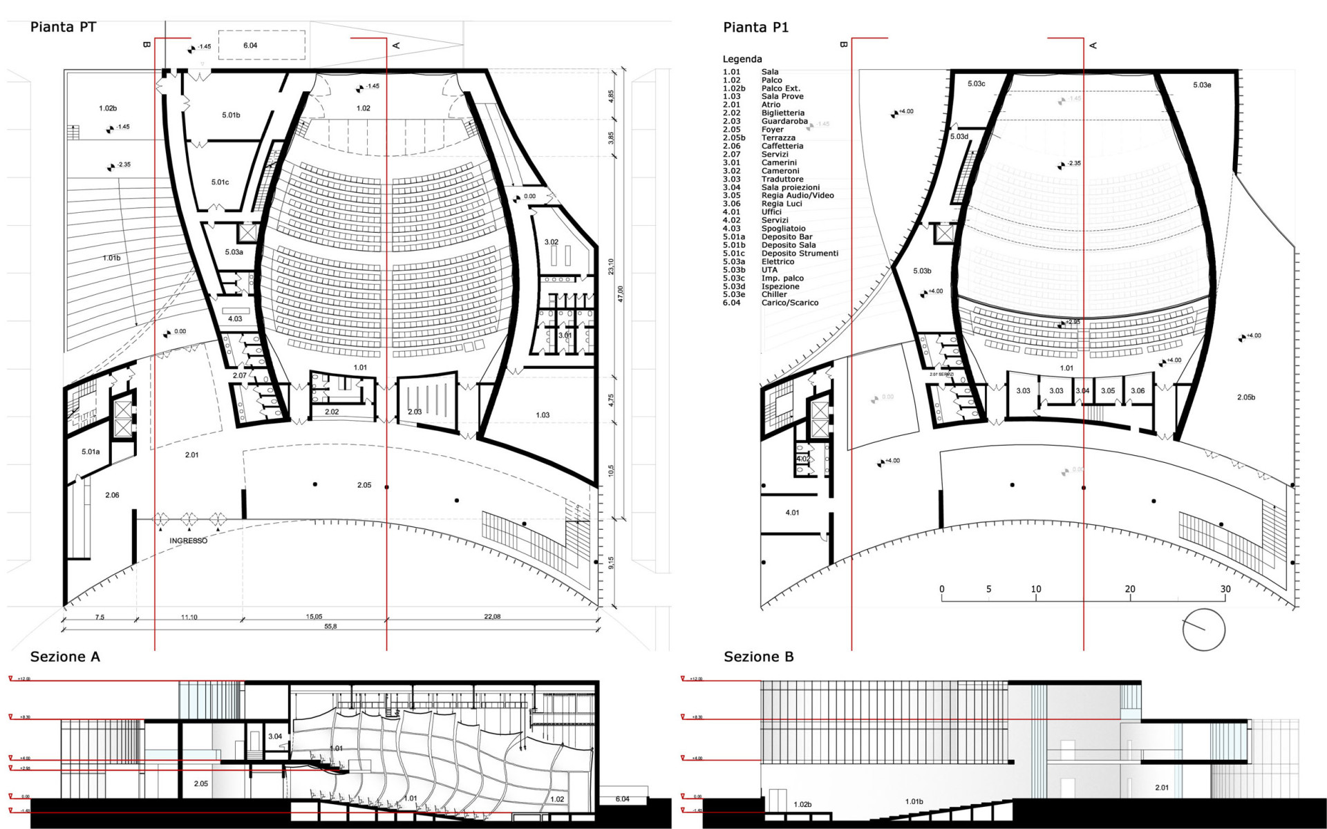1 Wisp-Architects-Acilia Auditorium-Drawings
