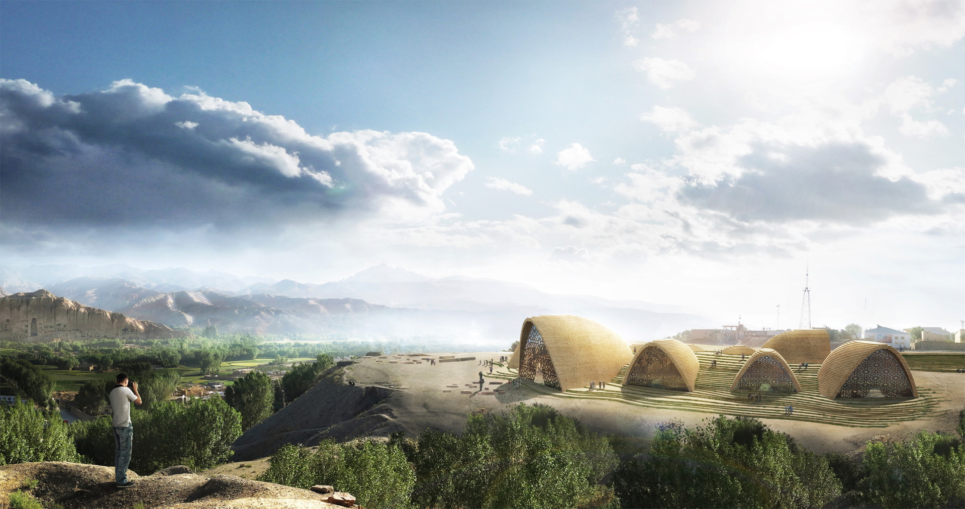 Wisp-Architects-Bamiyan-Cultural-Center-Competition-Render 1