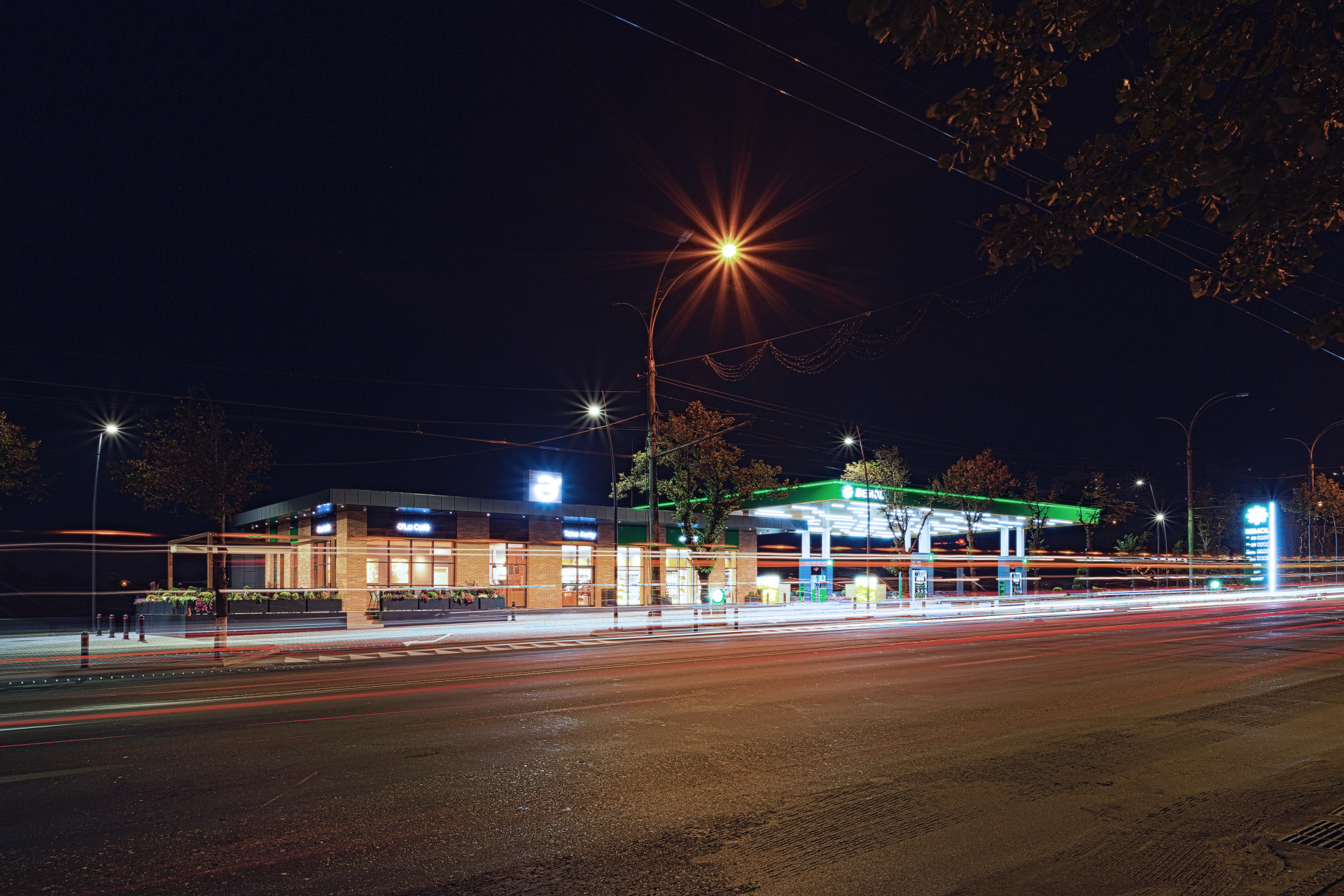 Wisp-A_Gas Station_Night overall