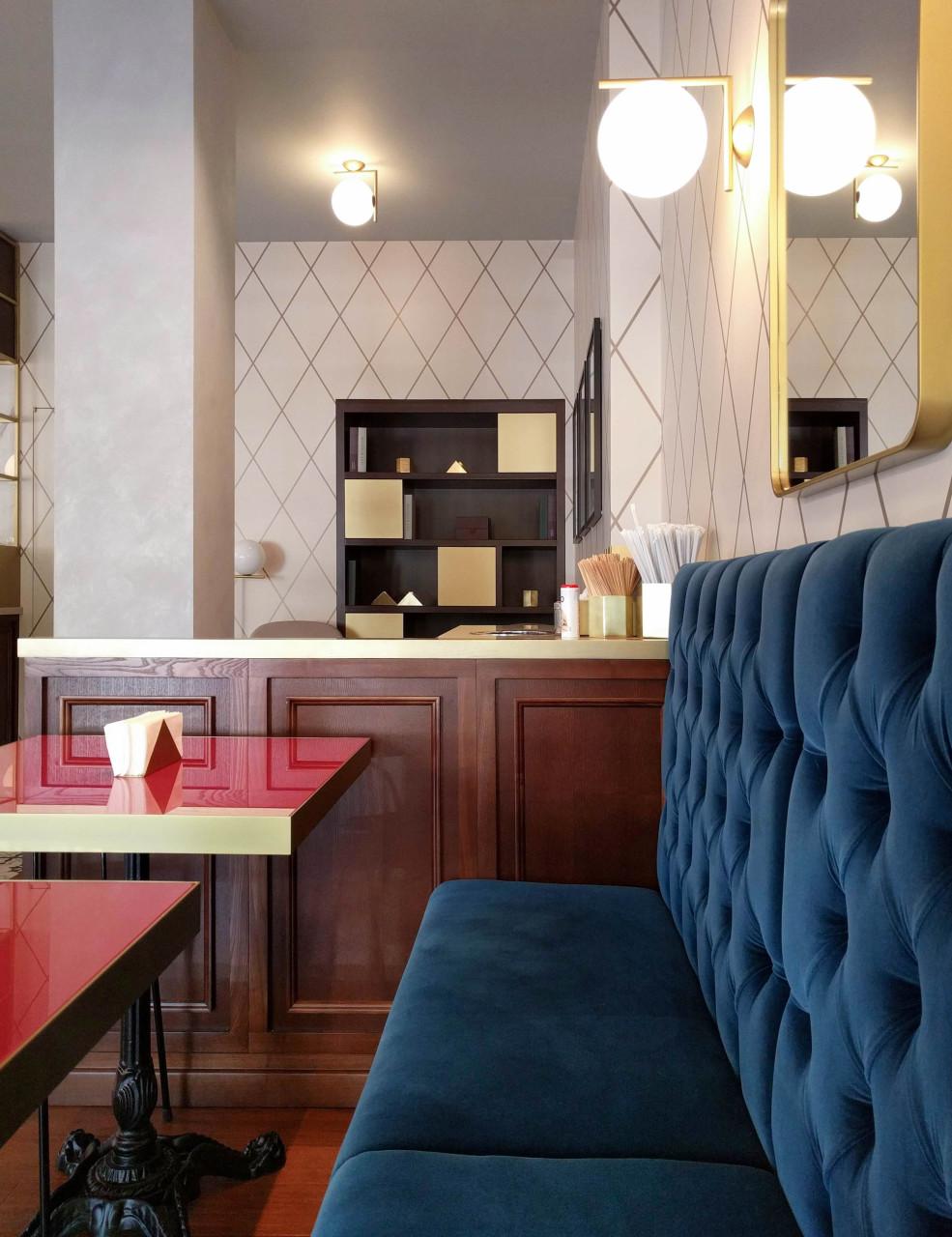 Naringi Café interiors_Sofa detail